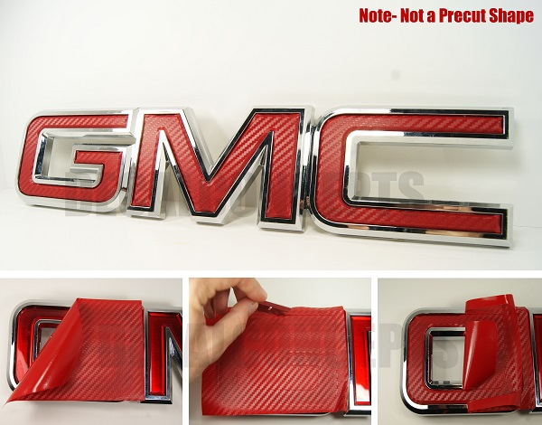 07 17 Gmc Front Universal Emblem Overlay Wrap Decal Concepts