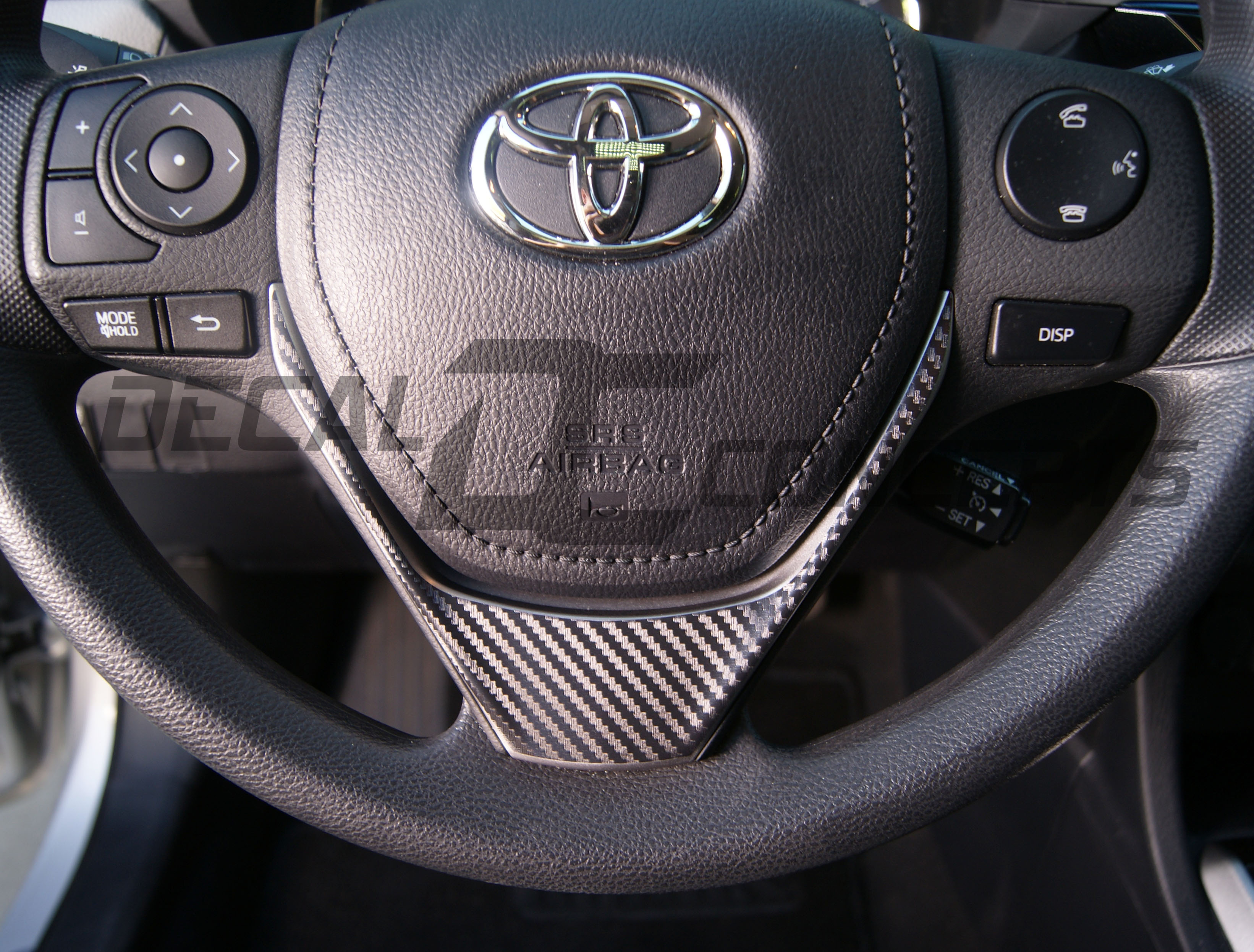 toyota corolla carbon fiber lower steering wheel accent decal kitadd to wishlist loading