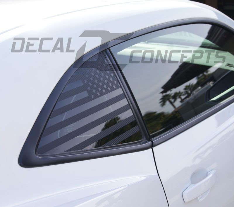 Camaro American Flag Rear Quarter Window Accent Decal